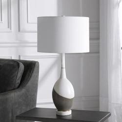 Uttermost Tanali Charcoal and Polished White Table Lamp found on Bargain Bro Philippines from LAMPS PLUS for $301.40