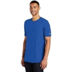 Nike Men's Core Cotton Crew Neck Tee (Rush Blue - XS) found on Bargain Bro India from Overstock for $25.64
