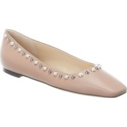 Jimmy Choo Mirele Leather Flat (36.5), Women's, Pink found on MODAPINS from Overstock for USD $514.79