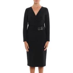 Ralph Lauren Women's Buckled Jersey Dress, Black, 16 found on Bargain Bro from Overstock for USD $49.40