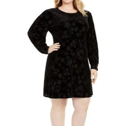 Calvin Klein Women's Dress Black Size 18W Plus Sheath Floral Velvet (18W) found on Bargain Bro from Overstock for USD $46.34