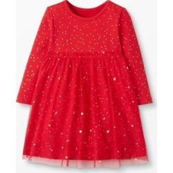 Hanna Andersson Girls' Casual Dresses - Hanna Red Shimmer Tulle Dress - Infant & Toddler found on Bargain Bro Philippines from zulily.com for $29.99