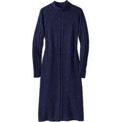 Haband Women's Chevron-Rib Sweater Dress, Navy, Size L Misses Petite, P - Petite found on Bargain Bro Philippines from Haband for $29.99