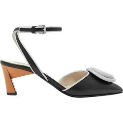 Appliquéd Color-block Leather Pumps - Black - Marni Heels found on Bargain Bro Philippines from lyst.com for $355.00