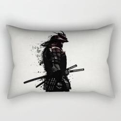 Rectangular Pillow   Armored Samurai by Nicklas Gustafsson - Small (17