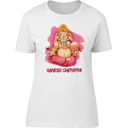 Lord Ganesh Chaturthi Festival Tee Women's -Image by Shutterstock (XL), White(cotton, Graphic) found on MODAPINS from Overstock for USD $13.29