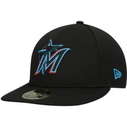 Miami Marlins New Era 2021 Clubhouse Low Profile 59FIFTY Fitted Hat - Black found on Bargain Bro Philippines from Fanatics for $41.99