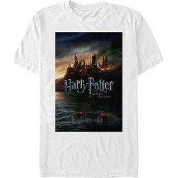 Fifth Sun Tee Shirts WHITE - Harry Potter & The Deathly Hallows White Soft Hand Crewneck Top - Adult found on Bargain Bro from zulily.com for USD $9.24