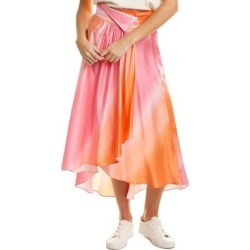 Dannijo Ombre Silk Skirt (S), Women's, Pink found on MODAPINS from Overstock for USD $248.59