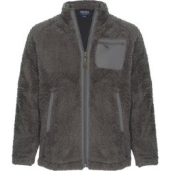Smith's Workwear Men's Non-Denim Casual Jackets CHARCOAL - Charcoal Sherpa Full-Zip Jacket - Men found on MODAPINS from zulily.com for USD $24.99