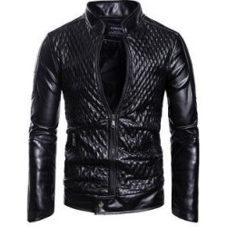 Red And Black Jacket Leather Jacket (Black - M), Men's found on MODAPINS from Overstock for USD $119.01