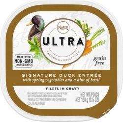 Nutro Ultra Grain Free Filets in Gravy Duck Entree With Spring Vegetables and Basil Adult Wet Dog Food, 3.5 oz., Case of 24, 24 X 3.5 OZ