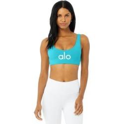 Alo Yoga Ambient Logo Bra - Blue - Alo Yoga Lingerie