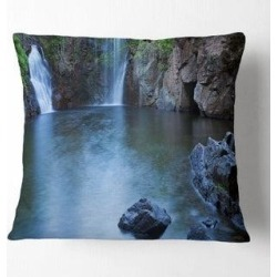 Designart 'Florence Falls in Litchfield' Landscape Printed Throw Pillow (Square - 18 in. x 18 in. - Medium), Multicolor, DESIGN ART(Polyester, Nature) found on Bargain Bro from Overstock for USD $28.87