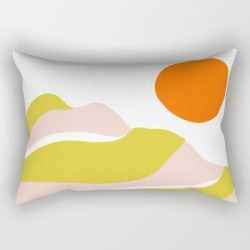 Rectangular Pillow | Sierra Mountain Sunset by Sunshinecanteen - Small (17