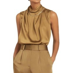Freya Chain Detail Sleeveless Top - Natural - Reiss Tops found on MODAPINS from lyst.com for USD $94.00