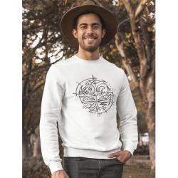 The Four Natural Elements Sweatshirt Men's -Image by Shutterstock (S), White(cotton) found on Bargain Bro Philippines from Overstock for $24.99