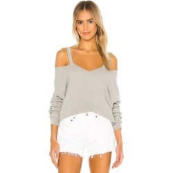 Swanson Long Sleeve Cutout V Neck Pullover - Gray - Michael Lauren Knitwear found on Bargain Bro India from lyst.com for $110.00
