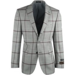 Sangria Cream and Black Houndstooth with Brown Windowpane Pure Wool Jacket Jacket by Tiglio Luxe found on Bargain Bro from Overstock for USD $201.44