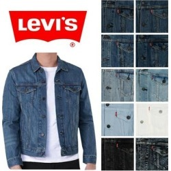 Levi's Men's Denim Cotton Button Front Denim Trucker Jean Jacket (Grey 0277 - L), Gray, Levis found on MODAPINS from Overstock for USD $67.11