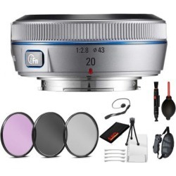 Samsung 20mm f/2.8 Pancake Lens for NX10 / NX100 (Silver) with found on Bargain Bro Philippines from Overstock for $311.99