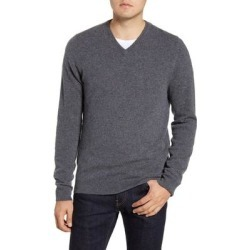 Cashmere V-neck Sweater - Gray - Nordstrom Knitwear found on Bargain Bro from lyst.com for USD $44.08