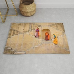Modern Throw Rug | Amber Stepwell, Rajasthan, India by Matt Brandon - 2' x 3' - Society6 found on Bargain Bro Philippines from Society6 for $39.20