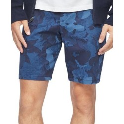Calvin Klein Mens Chino Shorts Blue Size 34 Floral Flat-Front Stretch (34), Men's(cotton) found on Bargain Bro from Overstock for USD $25.06
