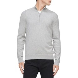 Calvin Klein Mens Sweater Heather Gray Size XL Rib Knit 1/2 Zip Pullover (XL), Men's found on Bargain Bro Philippines from Overstock for $38.98