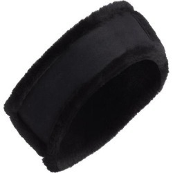 UGG Genuine Shearling Headband - Black - Ugg Hair found on Bargain Bro from lyst.com for USD $72.20