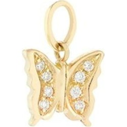 Diamond 18k Yellow Gold Butterfly Talisman Charm - Metallic - Loquet London Necklaces found on Bargain Bro from lyst.com for USD $304.00