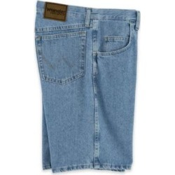 Men's Wrangler Relaxed-Fit Shorts, Vintage Indigo Denim 36 found on Bargain Bro India from Blair.com for $24.99