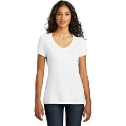One Country United Women's Tri V-Neck Tee (S - White)(cotton, Solid) found on Bargain Bro India from Overstock for $18.29