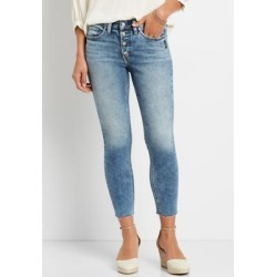 Silver Jeans Co.® Womens Suki Medium Wash Button Fly Cropped Jean Blue Denim - Size 29 - Maurices found on Bargain Bro from Maurices for USD $56.24
