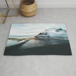 Iceland Adventures - Landscape Photography Modern Throw Rug by Michael Schauer - 2' x 3' found on Bargain Bro from Society6 for USD $27.93