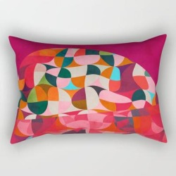 Rectangular Pillow   Shapes Abstract by Ana Rut Bre Fine Art - Small (17