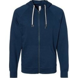 Icon Unisex Lightweight Loopback Terry Zip Hood (Indigo - 2XL), Men's, Blue(cotton) found on Bargain Bro from Overstock for USD $33.71