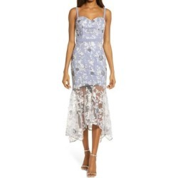 Embroidered Lace Sleeveless Body-con Dress - Blue - Chi Chi London Dresses found on MODAPINS from lyst.com for USD $195.00