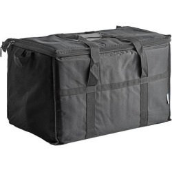 Choice Black Large Insulated Nylon Cooler Bag (Holds 72 Cans) found on Bargain Bro India from webstaurantstore.com for $24.99
