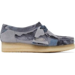 Blue Camo Wallabee Moccasins - Blue - Clarks Flats found on Bargain Bro from lyst.com for USD $144.40