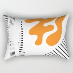Rectangular Pillow | Mid-century Modern Art Future by Oldurbanfarmhouse - Small (17