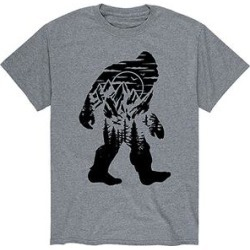 Instant Message Mens Men's Tee Shirts ATHLETIC - Athletic Heather Sasquatch Mountain Silhouette Tee - Men