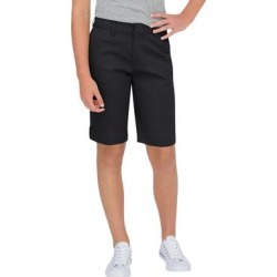 Dickies Women's Juniors' Schoolwear Classic Fit Bermuda Stretch Twill Shorts - Black Size 0 (KR7714) found on Bargain Bro from Dickies.com for USD $14.43