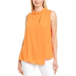Vince Camuto Rumple Georgette Top (00), Women's, Orange(polyester) found on Bargain Bro India from Overstock for $21.99