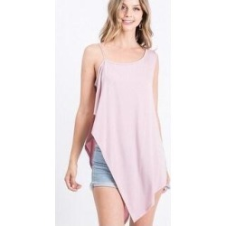 Solid Knit Top Is Fearing A Round Neckline And Side Hi-low (Blush - S), Women's found on Bargain Bro Philippines from Overstock for $31.05