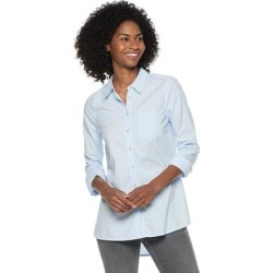 Women's Sonoma Goods For Life Essential Poplin Shirt, Size: XXL, Light Blue found on Bargain Bro India from Kohl's for $10.80