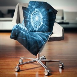 Designart 'Fractal 3D Deep Blue Spiral' Contemporary Throw Blanket (71 in. x 59 in.), DESIGN ART found on Bargain Bro from Overstock for USD $40.69