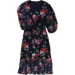 Ralph Lauren Womens Floral A-line Midi Dress, Blue, 8 found on Bargain Bro from Overstock for USD $54.29