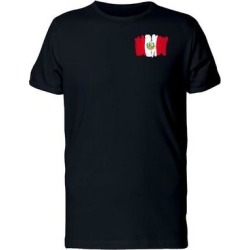 Paint Of The Flag Of Peru Tee Men's -Image by Shutterstock (S), Black found on Bargain Bro Philippines from Overstock for $14.99