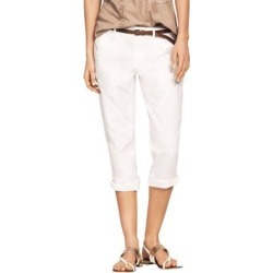 Plus Size Women's Seamed Capris by ellos in White (Size 26) found on Bargain Bro Philippines from Roamans.com for $29.90